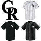 Colorado Rockies Striped Button Jersey Baseball Open T-Shirts Uniform 0101 on Ebay