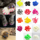 20Pcs Silicone Pet Dog Cat Kitten Paw Claw Control Sheath Nail Caps Covers tall