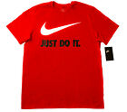 Men NIKE T SHIRT Graphic Tee Crew Neck S-3XL - Athletic Fit Just Do It Swoosh