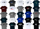 Men NIKE T SHIRT Graphic Tee Crew Neck S 3XL Athletic Fit Just Do It Swoosh
