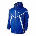 Nike Men's Hyperfuse Windrunner Running Full Zip Drawstring Hood Blue Jacket