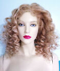 Silk Top Remy Remi Full Lace Wig Human Indian Hair Blonde Mix Curly Wavy Soft