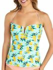 Island Soul Juniors Lemon Print Bandeau Tankini Top