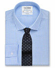 T.M.Lewin Non-Iron Blue Gingham Fitted Shirt