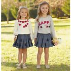 Mud Pie H7 Baby Girl Floral Embroidered Tee T-shirt 1152097 Choose Size Design