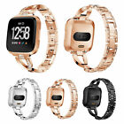 Replacement For Fitbit Versa Wristband Watch Bracelet Bling Metal Wrist Band