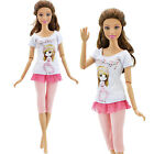Pants Jeans Capris Mini Dress Skirt Shirt Outfit Clothes For 12 in. Doll Clothes