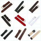 12-24mm Leather Watch Strap Band Womens Mens Wrist Band Buckle Belt Link Band image