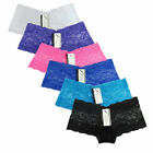 6 Pack Womens Sexy Underwear Panties Cotton Lace Thong G-Strings Panty Lot M-2XL