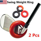 Golf Club Warm Up Swing Round Weight Ring Diver Weighted Practice Training 2 Pcs