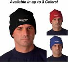 Triumph Motorcycle Logo Ver 2 OSFA Adult Knit Hat Beanie Cap Avail. in 3 Colors! $12.99 USD on eBay