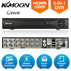KKmoon 4CH/8CH/16CH 1080P Hybrid AHD DVR 5-in-1 Digital Video Recorder P2P Onvif