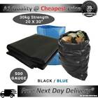 EXTRA LARGE RUBBLE WASTE SACKS BAGS HEAVY DUTY GARDEN REFUSE BUILDERS BLACK/BLUE