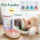 Automatic Pet Food Dispenser Dog Cat Feeder Waterer Auto Dish Bowl Combo Pack US