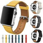 USA For Apple Watch iWatch 1234 40/44mm Leather Watch Strap Bracelet Wrist Band image