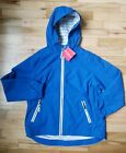 NWT HANNA ANDERSSON WIND AT YOUR BACK ANORAK JACKET BRIGHT BLUE 140 10
