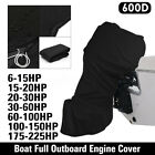 For 6 - 225HP Motor Black Boat Full Outboard Engine Cover Waterproof 600D USA image