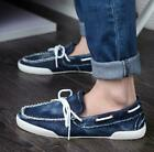 Mens Canvas Casual Boat Flat Driving Breathable Moccasins Loafers Shoes SLip On