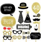 30/40/50th 30x Mens Lady Birthday Party Decor Photo Booth Props On Stick Selfie