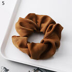 Women Silky Satin Hair Scrunchies Elastic Hair Bands Ponytail Hair Tie Rope Gift
