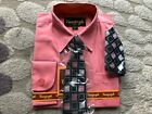Boys Formal Dress Shirt with Matching Tie and Hanky Vangogh Sizes 2T 3T 4T Baby