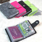 Women Men PU Leather Business ID Credit Card Holder Case Wallet for 24 Card Mini image