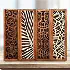 Wooden Stationery Case Hollow Out Boxes Desktop Pencil Storage Organizer