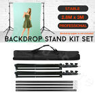 Adjustable Support Heavy Duty Backdrop Stand System Photography Studio 5 Sizes