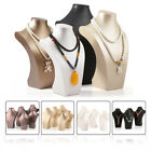 New Mannequin Bust Jewelry Necklace Pendant Neck Model Stand Display Rack Holder