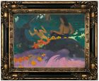 Gauguin By the Sea 1892 Wood Framed Canvas Print Repro 12x16