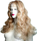 Classy Front Lace Wig Blonde Mix Human Hair Indian Remi Remy Bodywave 27/613