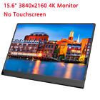"15.6"" Portable Monitor HDR 4K 3840x2160 IPS HDIM Touch Screen Gaming Monitor US"