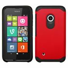 For Nokia Lumia 530 Back Snap-on Hard Silicone Hybrid Rubber Case Cover