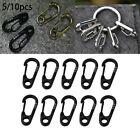Pro 5/10Pcs EDC Mini Stainless Steel Key Buckle Snap Spring Clip Hook Carabiner