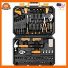 General Hand Tool Kit, Auto Repair Tool Set, with Plastic Toolbox Storage Case