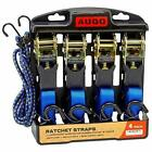 Ratchet Tie Down Straps - 4 Pk - 15 Ft- 500 Lbs Load Cap- 1500 Lb Break Strength