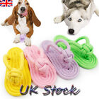 Pet Braided Chewing Slipper Dog Puppy Molar Tooth Dental Cleaning Chew Toys UK