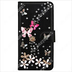 Fashion Bling Diamonds Jewelled Leather Flip Wallet Stand Case Cover for ZTE