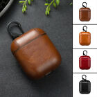 PU Leather Earphone Cover Case For Apple AirPods Box With S Clip Holder Durable