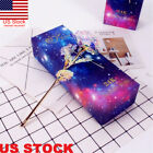 Galaxy Rose Flower Valentine's Day Lovers' Gift Romantic Crystal Rose With Box R