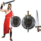 MENS SPARTAN WARRIOR COSTUME GREEK ROMAN SOLDIER FANCY DRESS GLADIATOR OUTFIT