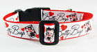 "Betty Boop dog collar handmade adjustable buckle collar 1"" wide or leash $12 $12.0 USD on eBay"