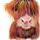 HIGHLAND COW PRINTS of Original SCOTTISH Painting THe KiD 2 by SHIRLEY MACARTHUR