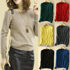 2019 New Fashion Women Cashmere Sweater Winter Warm Pullover Solid Knitted Tops