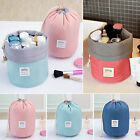 Barrel Shaped Cosmetic Makeup Drawstring Bag Pouch Travel Wash Capacity Toiletry