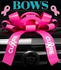 30 Inch Giant Breast Cancer Awareness Magentic Car Bow #531 Jum-bow