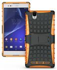 GRENADE GRIP RUGGED TPU SKIN HARD CASE COVER STAND FOR SONY XPERIA T2 ULTRA