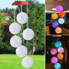 Solar-powered Wind Bell New LED Light Spiral Spinner Decoration Lamp H2V9