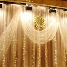 3x3M 300LED Window Curtain Icicle String Fairy Light Wedding Party Decor Outdoor