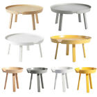 Scandinavian Wood Coffee Table Round Colorful Plywood Centre Side End Tea Table